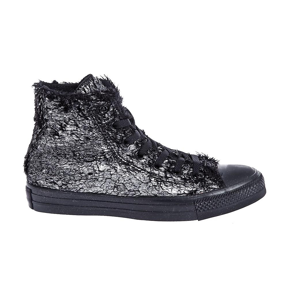 CONVERSE – Γυναικεία παπούτσια Chuck Taylor All Star Material μαύρα-ασημί