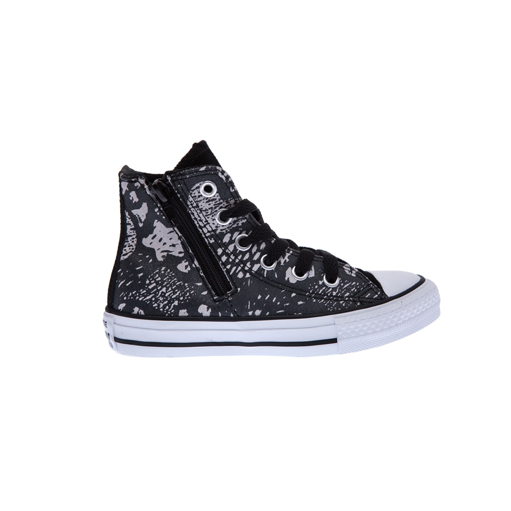 CONVERSE – Παιδικά παπούτσια Chuck Taylor All Star Side Zip μαύρα-γκρι