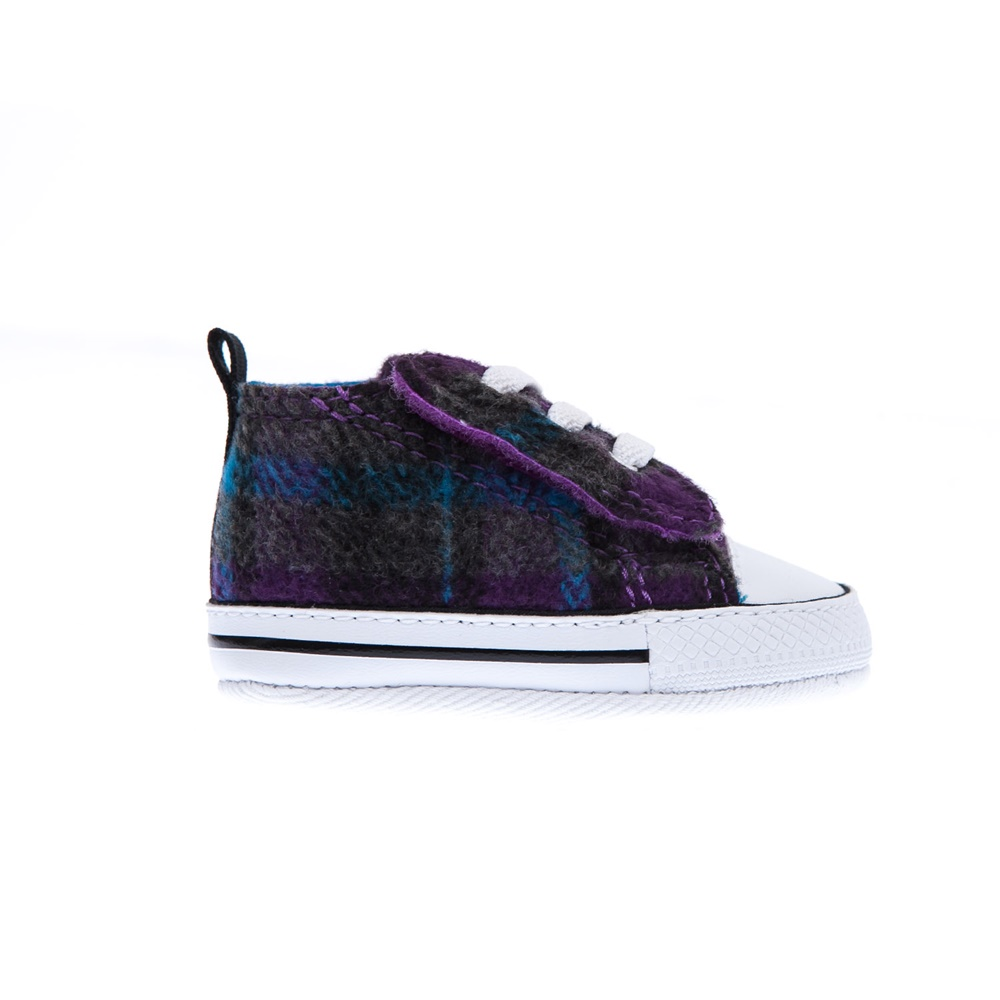 CONVERSE – Βρεφικά παπούτσια Chuck Taylor γκρι-μωβ