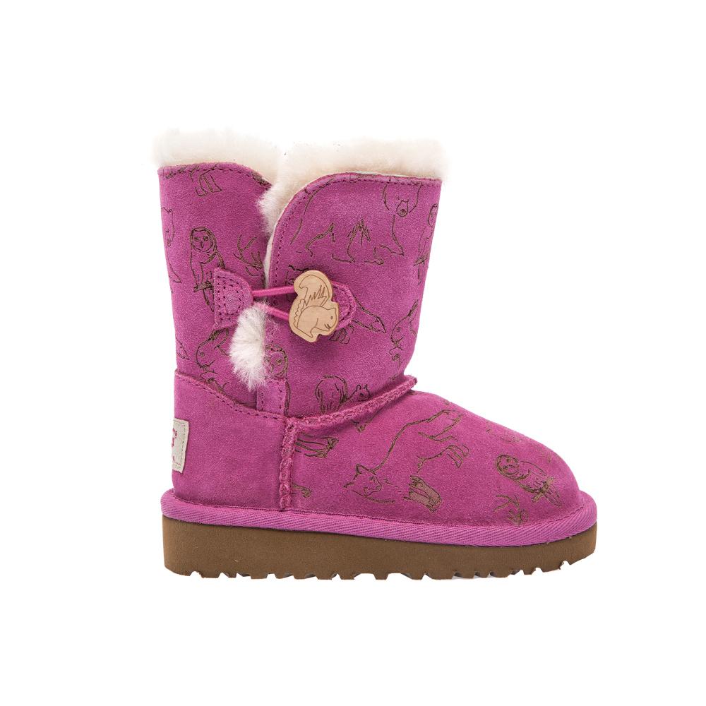 UGG AUSTRALIA - Παιδικά μποτάκια Ugg Australia ροζ-μωβ παιδικά boys παπούτσια μπότες μποτάκια
