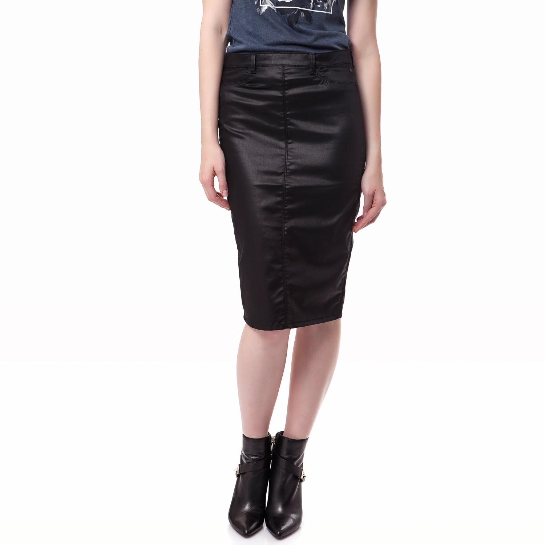 GAS - Γυναικεία φούστα Gas μαύρη γυναικεία ρούχα φούστες μέχρι το γόνατο