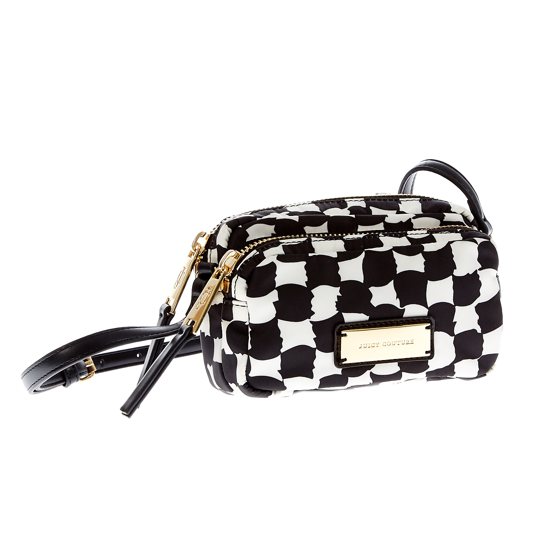 JUICY COUTURE - Γυναικεία τσάντα Juicy Couture μαύρη-λευκή