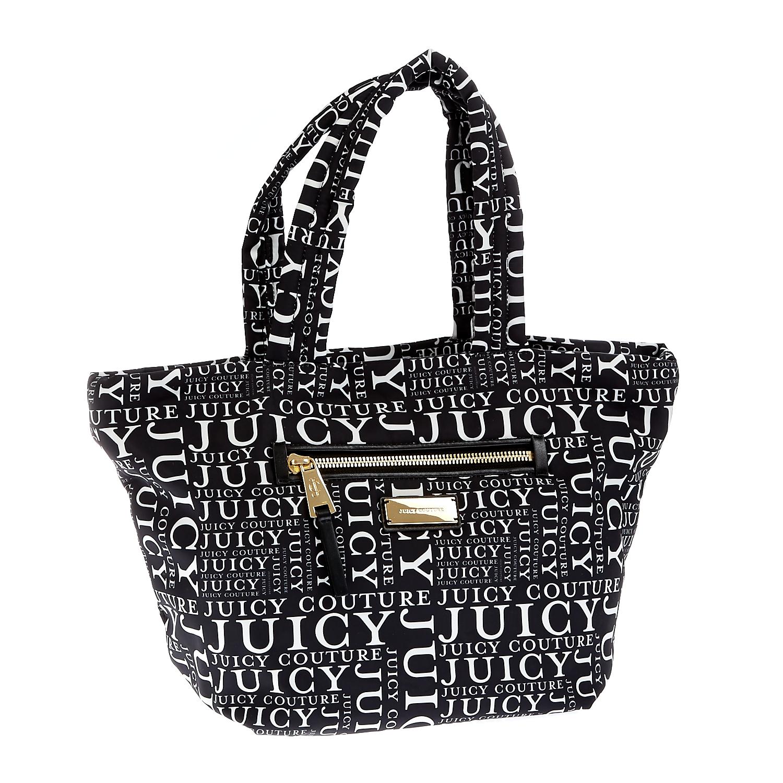 JUICY COUTURE – Γυναικεία τσάντα Juicy Couture μαύρη-λευκή 1409484.0-7192