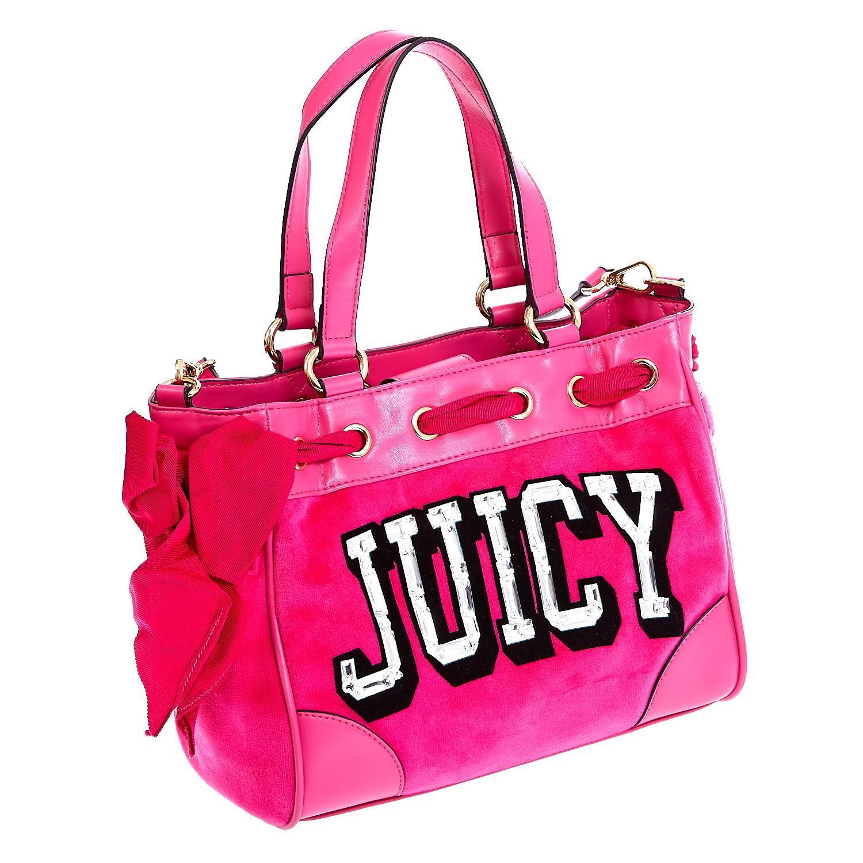 JUICY COUTURE - Τσάντα Juicy Couture φούξια γυναικεία αξεσουάρ τσάντες σακίδια χειρός