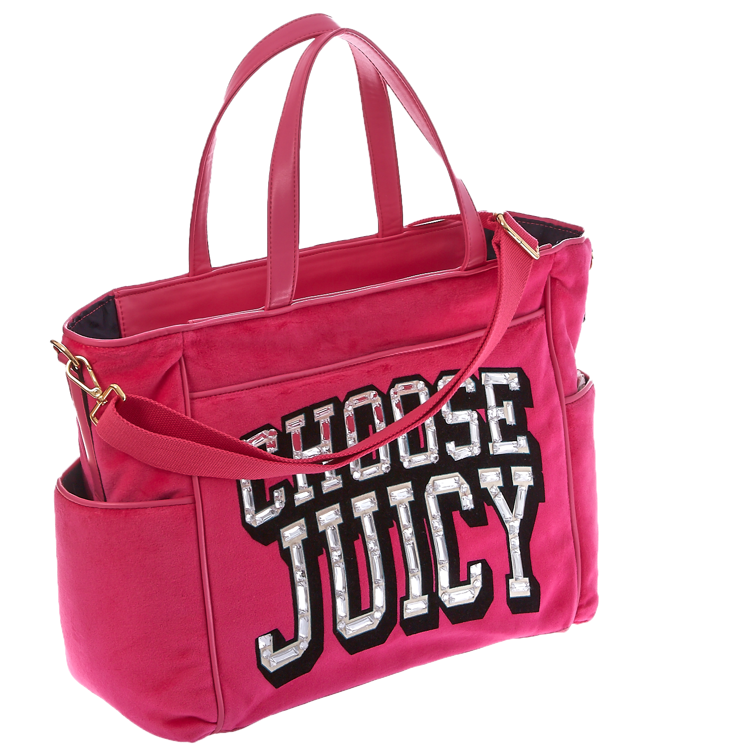 JUICY COUTURE - Τσάντα μωρού Juicy Couture ροζ σκούρο γυναικεία αξεσουάρ τσάντες σακίδια χειρός