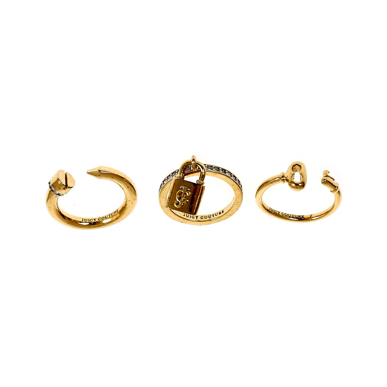 JUICY COUTURE - Σετ δαχτυλίδια Juicy Couture γυναικεία αξεσουάρ κοσμήματα δαχτυλίδια