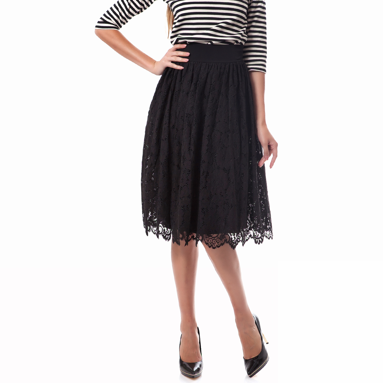 TED BAKER - Γυναικεία φούστα Ted Baker μαύρη γυναικεία ρούχα φούστες μέχρι το γόνατο