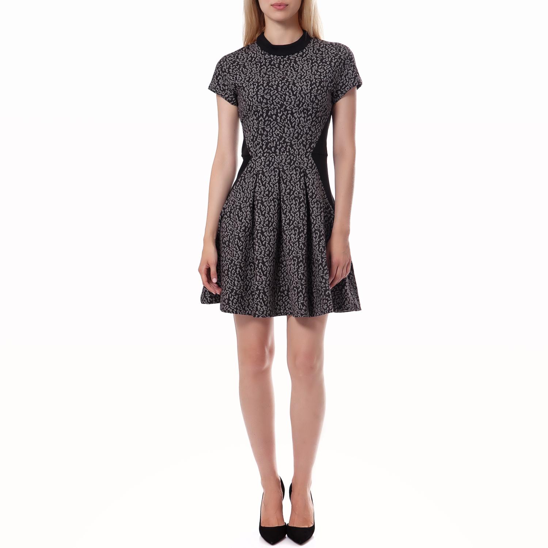 JUICY COUTURE - Γυναικείο φόρεμα Juicy Couture μαύρο-γκρι γυναικεία ρούχα φορέματα μίνι