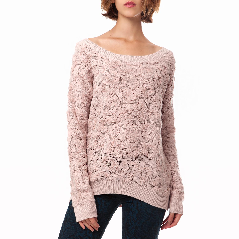 JUICY COUTURE - Γυναικείο πουλόβερ Juicy Couture μπεζ γυναικεία ρούχα πλεκτά ζακέτες πουλόβερ