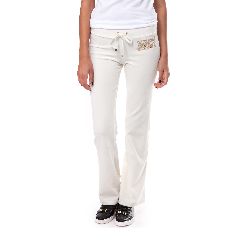 JUICY COUTURE - Γυναικείο παντελόνι Juicy Couture λευκό γυναικεία ρούχα παντελόνια φόρμες