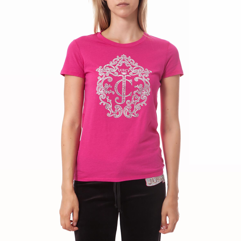 JUICY COUTURE - Γυναικεία μπλούζα Juicy Couture φούξια γυναικεία ρούχα μπλούζες t shirt