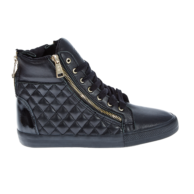 JUICY COUTURE - Γυναικεία δερμάτινα μποτάκια Juicy Couture μαύρα γυναικεία παπούτσια sneakers