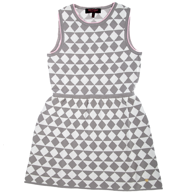 JUICY COUTURE KIDS - Παιδικό φόρεμα Juicy Couture γκρι-λευκό παιδικά girls ρούχα φορέματα