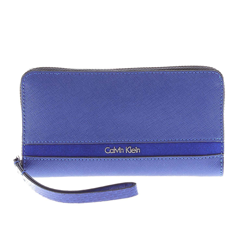 CALVIN KLEIN JEANS - Γυναικείο πορτοφόλι Calvin Klein Jeans μπλε γυναικεία αξεσουάρ πορτοφόλια μπρελόκ