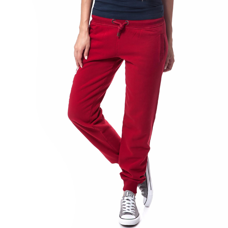 FRANKLIN & MARSHALL - Γυναικεία φόρμα Franklin & Marshall κόκκινη γυναικεία ρούχα αθλητικά φόρμες