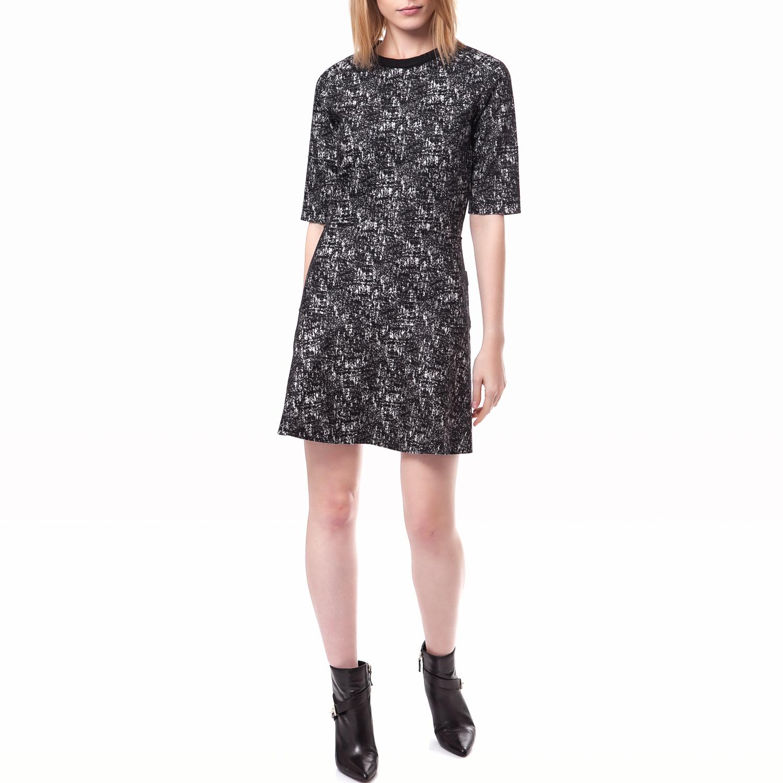 CALVIN KLEIN JEANS - Γυναικείο φόρεμα Calvin Klein Jeans μαύρο-γκρι γυναικεία ρούχα φορέματα μίνι