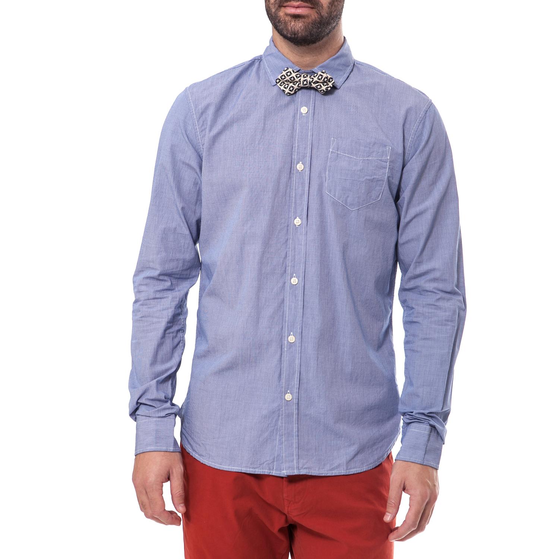SCOTCH & SODA - Ανδρικό πουκάμισο Scotch & Soda μπλε μακρυμάνικο