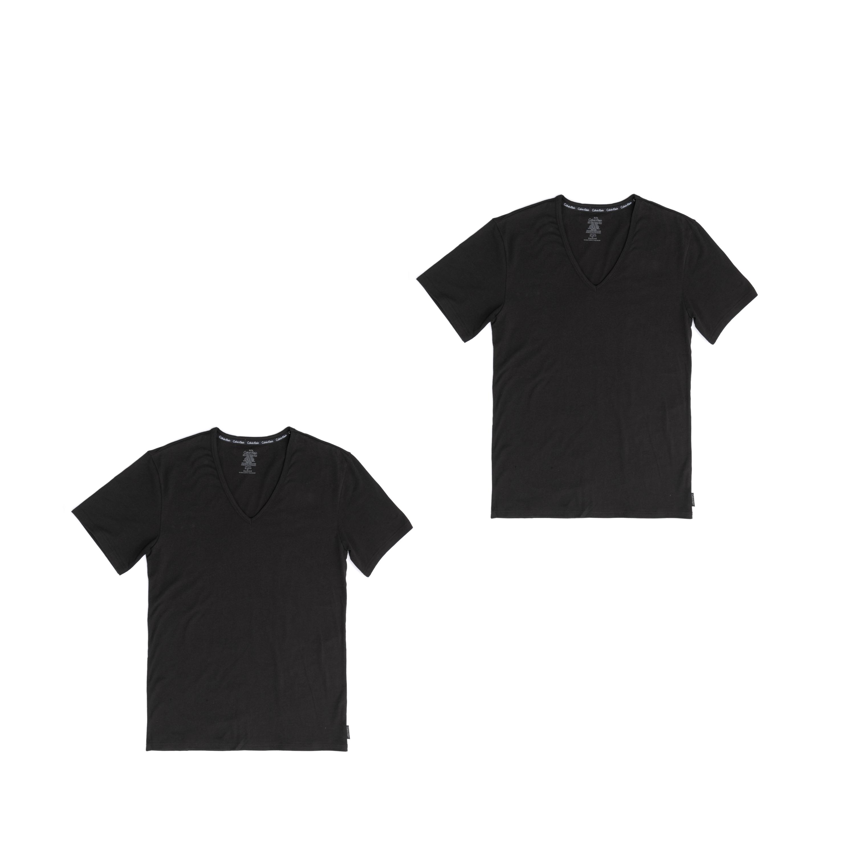 CK UNDERWEAR - Σετ φανέλες CK UNDERWEAR μαύρες ανδρικά ρούχα εσώρουχα φανέλες