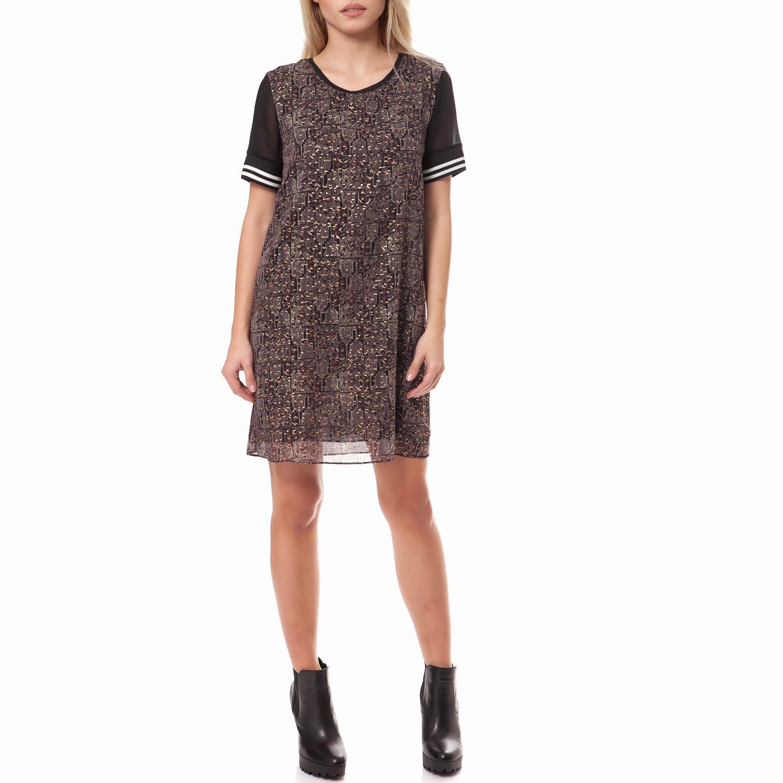 MAISON SCOTCH - Γυναικείο φόρεμα Maison Scotch καφέ γυναικεία ρούχα φορέματα μίνι