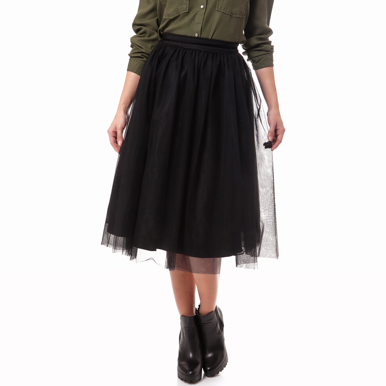 MAISON SCOTCH - Γυναικεία φούστα Maison Scotch μαύρη γυναικεία ρούχα φούστες μέχρι το γόνατο