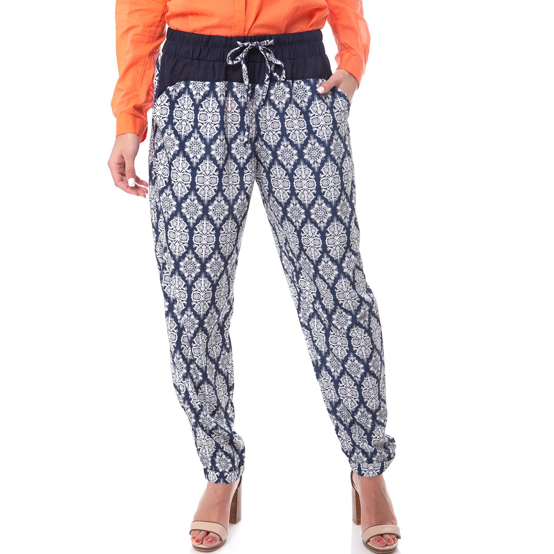 MOLLY BRACKEN - Γυναικείο παντελόνι MOLLY BRACKEN μπλε-λευκό γυναικεία ρούχα παντελόνια casual