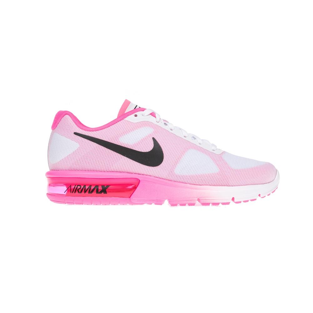 NIKE – Γυναικεία παπούτσια NIKE AIR MAX SEQUENT άσπρα-ροζ
