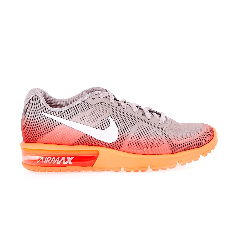 NIKE - Γυναικεία αθλητικά παπούτσια NIKE AIR MAX SEQUENT γκρι-πορτοκαλί