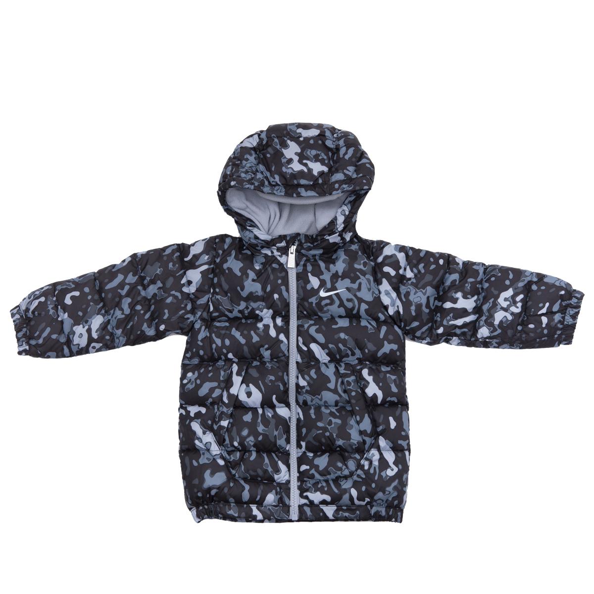 NIKE - Βρεφικό μπουφάν Nike γκρι-μαύρο παιδικά baby ρούχα πανωφόρια
