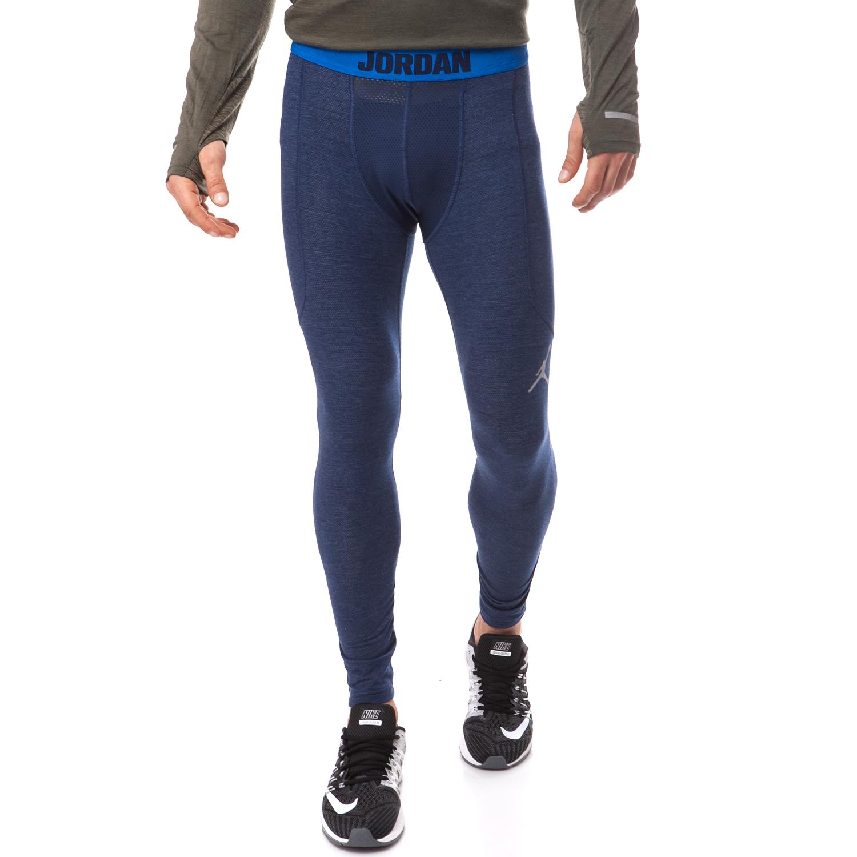 NIKE - Ανδρικό κολάν Nike μπλε ανδρικά ρούχα αθλητικά κολάν