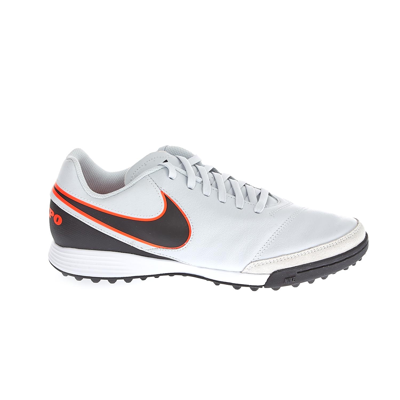 NIKE – Ανδρικά ποδοσφαιρικά παπούτσια ΝΙΚΕ TIEMPOX GENIO II LEATHER TF λευκά