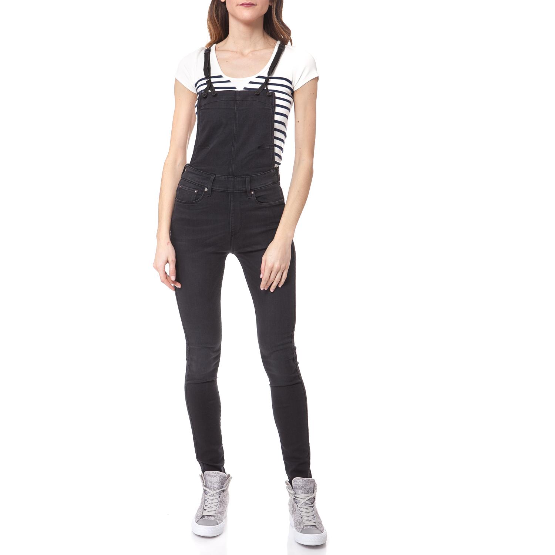 G-STAR - Ολόσωμη φόρμα G-STAR RAW μαύρη γυναικεία ρούχα ολόσωμες φόρμες ολόσωμη φόρμα