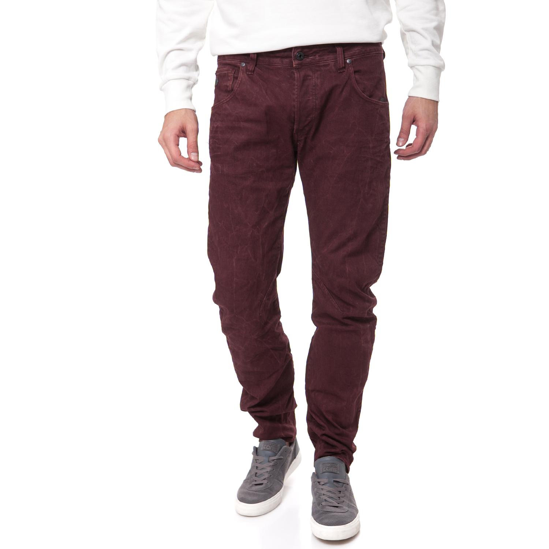 G-STAR RAW - Ανδρικό τζιν παντελόνι G-Star Raw μπορντώ ανδρικά ρούχα παντελόνια jean