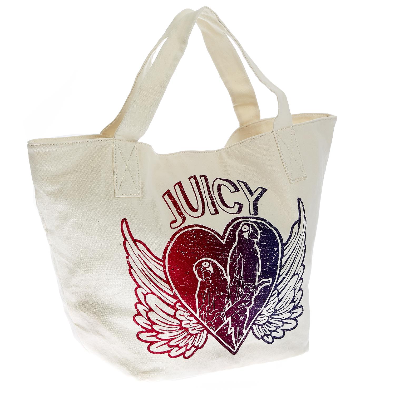 JUICY COUTURE – Γυναικεία τσάντα Juicy Couture λευκή 1432850.0-0091