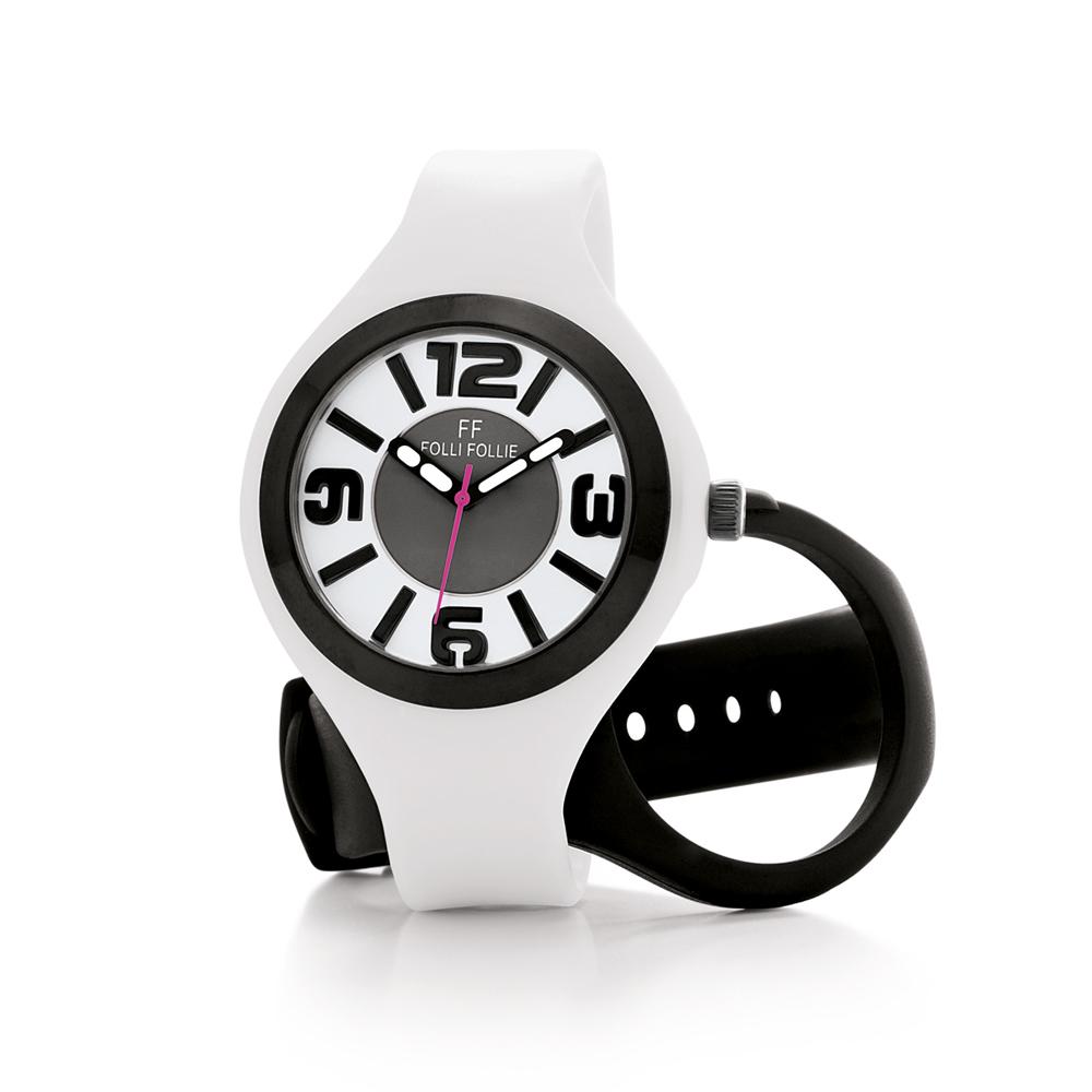 FOLLI FOLLIE – Γυναικείο ρολόι Folli Follie λευκό-μαύρο
