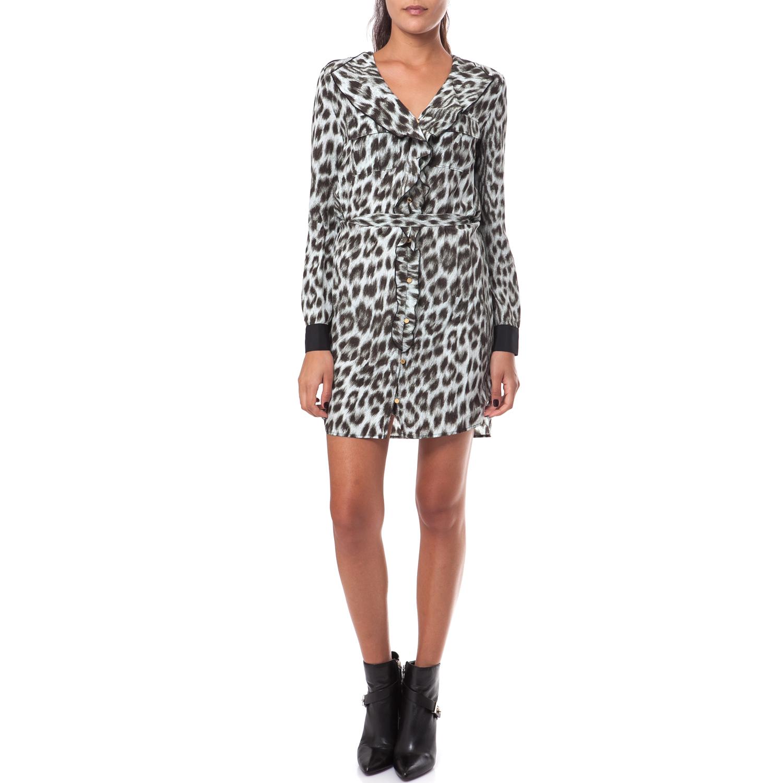 JUICY COUTURE - Γυναικείο φόρεμα Juicy Couture γκρι-μαύρο γυναικεία ρούχα φορέματα μίνι