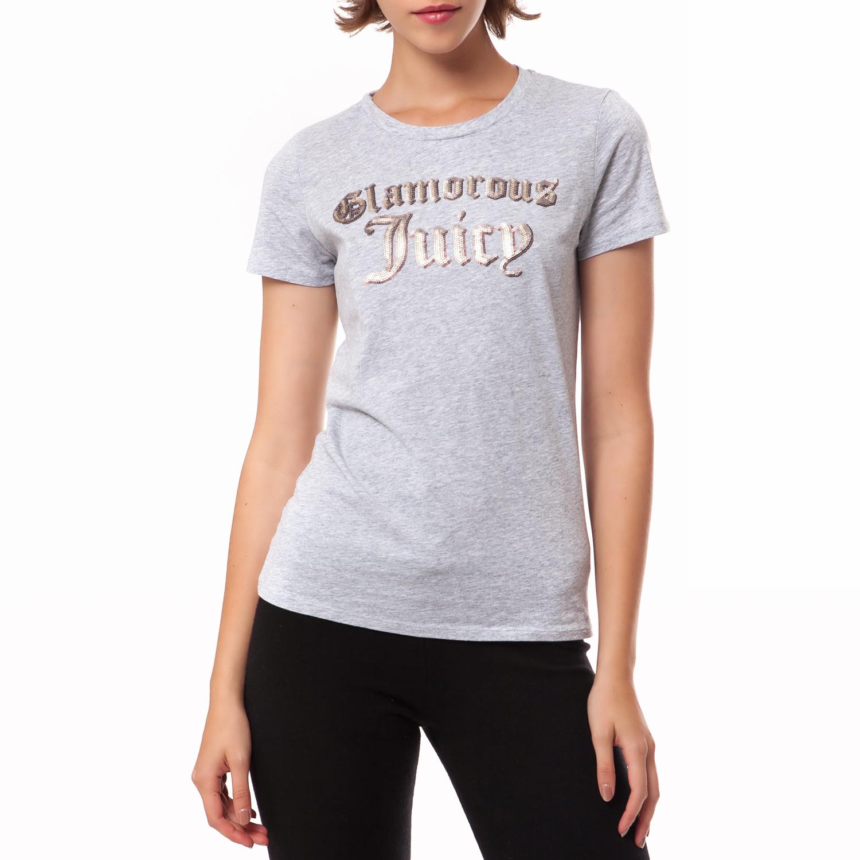 JUICY COUTURE - Γυναικεία μπλούζα Juicy Couture γκρι γυναικεία ρούχα μπλούζες t shirt