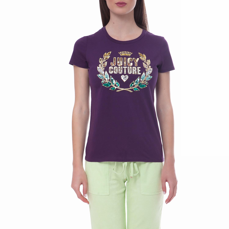 JUICY COUTURE - Γυναικεία μπλούζα Juicy Couture μωβ γυναικεία ρούχα μπλούζες t shirt