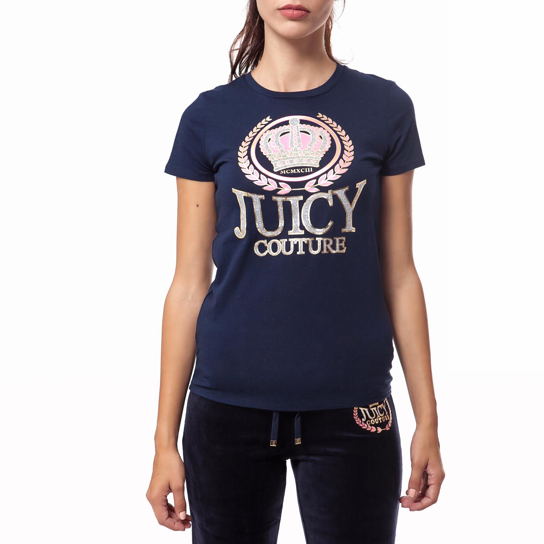 JUICY COUTURE - Γυναικεία μπλούζα Juicy Couture μπλε γυναικεία ρούχα μπλούζες t shirt