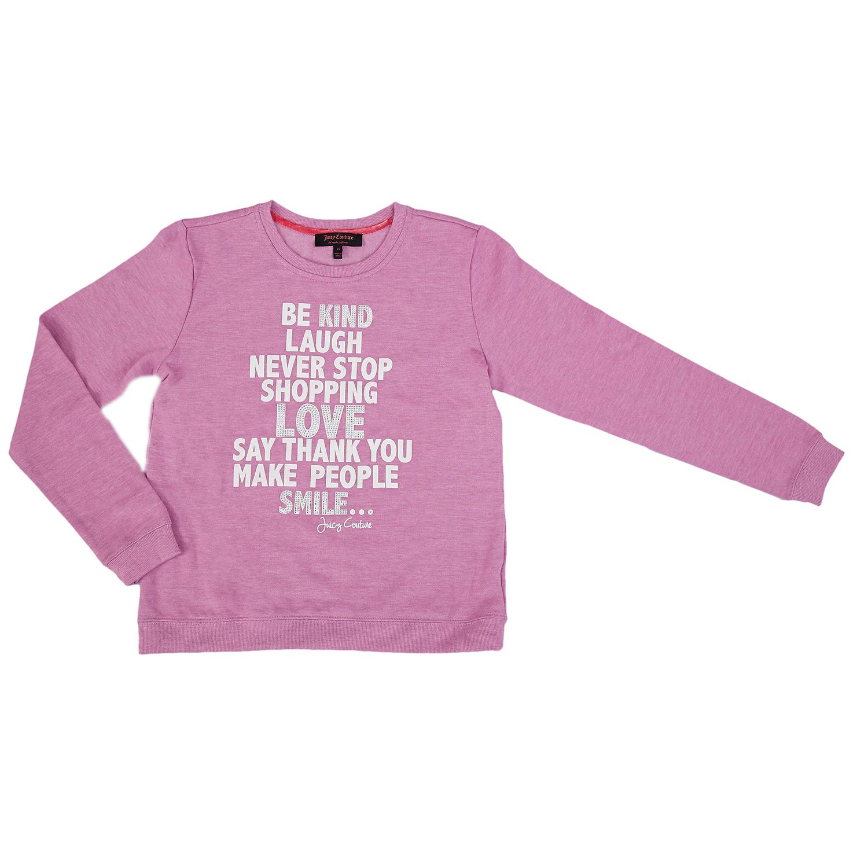 JUICY COUTURE KIDS - Παιδική μπλούζα Juicy Couture λιλά