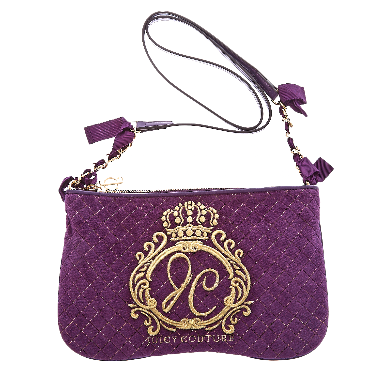 JUICY COUTURE - Τσαντάκι Juicy Couture μωβ γυναικεία αξεσουάρ τσάντες σακίδια ωμου