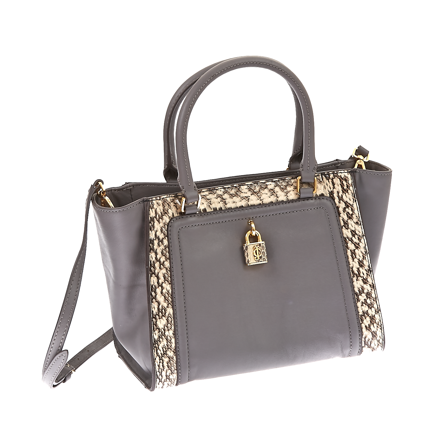 JUICY COUTURE – Δερμάτινη τσάντα Juicy Couture γκρι 1434596.0-0000