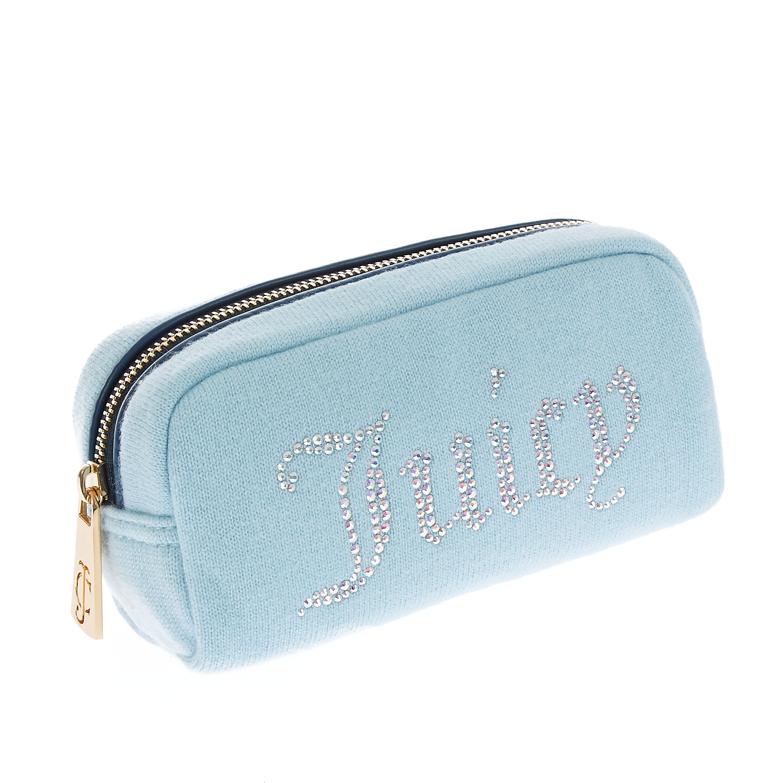 JUICY COUTURE - Γυναικείο νεσεσέρ Juicy Couture σιέλ γυναικεία αξεσουάρ τσάντες σακίδια νεσεσέρ