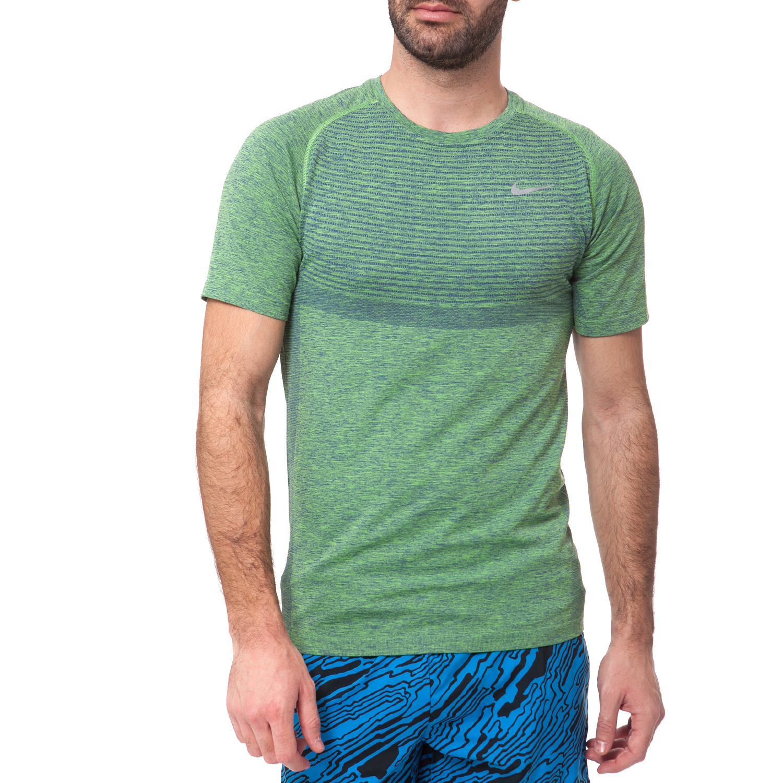 NIKE - Ανδρικό t-shirt NIKE DRI-FIT KNIT πράσινο ανδρικά ρούχα αθλητικά t shirt