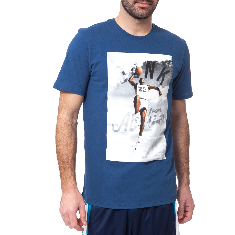 NIKE - Ανδρικό t-shirt Nike JORDAN DUNK FROM ABOVE μπλε ανδρικά ρούχα αθλητικά t shirt