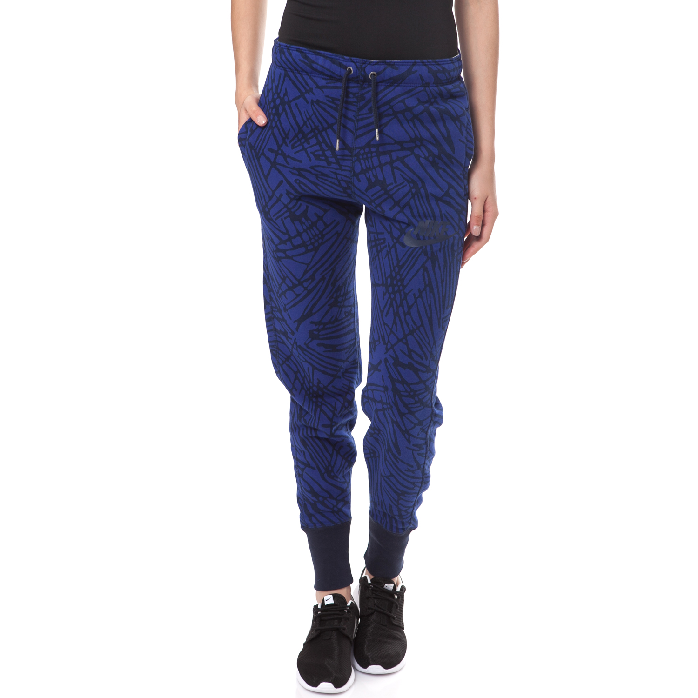 NIKE - Γυναικείο παντελόνι φόρμας NIKE RALLY PANT JOGGER μπλε-μαύρο γυναικεία ρούχα αθλητικά φόρμες