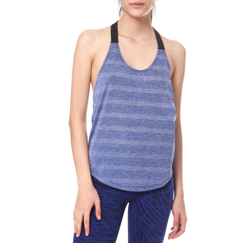 NIKE - Γυναικείο αθλητικό top NIKE ELASTIKA ELEVATE TANK ριγέ μωβ γυναικεία ρούχα αθλητικά t shirt τοπ