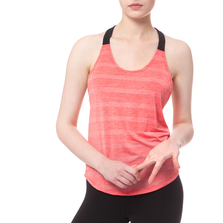 NIKE - Γυναικείο αθλητικό top NIKE ELASTIKA ELEVATE TANK ριγέ σομόν γυναικεία ρούχα αθλητικά t shirt τοπ