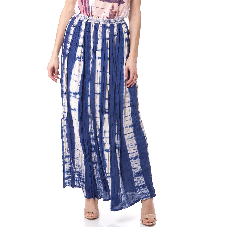 GAS - Γυναικεία φούστα Gas μπλε-λευκή γυναικεία ρούχα φούστες μάξι