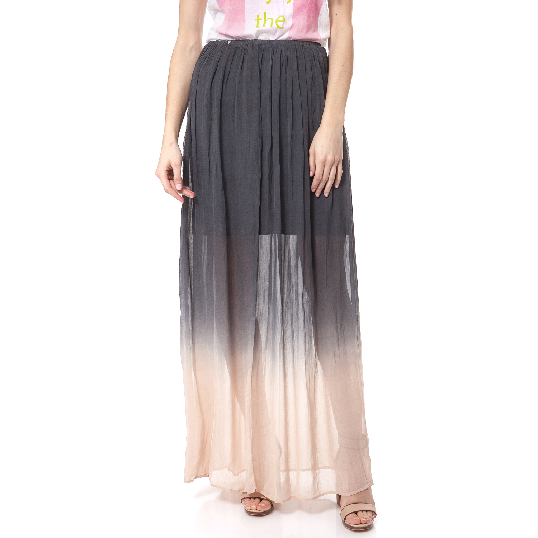 GAS - Γυναικεία φούστα Gas ανθρακί-ροζ γυναικεία ρούχα φούστες μάξι
