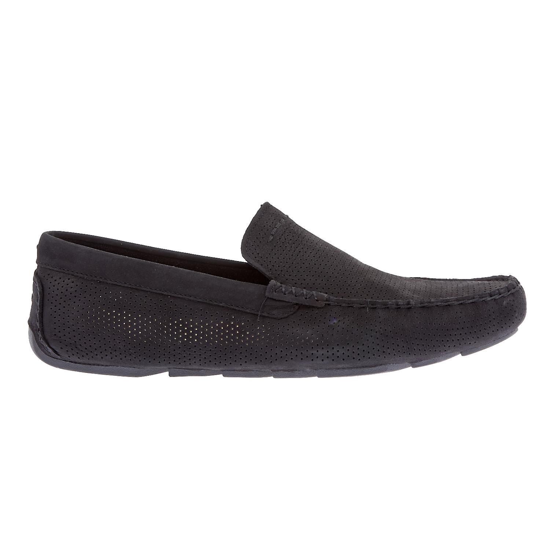 UGG AUSTRALIA - Ανδρικά μοκασίνια Ugg Australia μαύρα ανδρικά παπούτσια μοκασίνια loafers